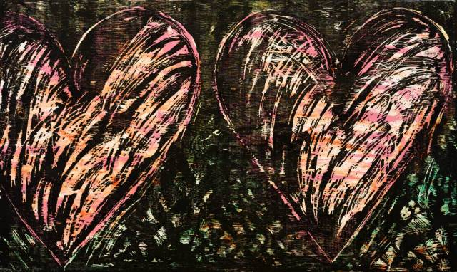 Two Hearts in a Forest 1981 by Jim Dine born 1935