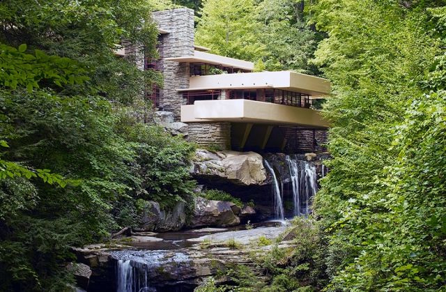 Fallingwater, also known as the Edgar J. Kaufmann Sr. Residence,