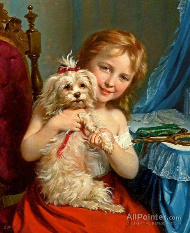 fritz-zuber-buhler-young-girl-with-bichon-frise-274316