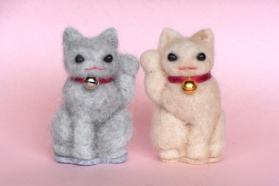 Japanese-cat-hair-figurines